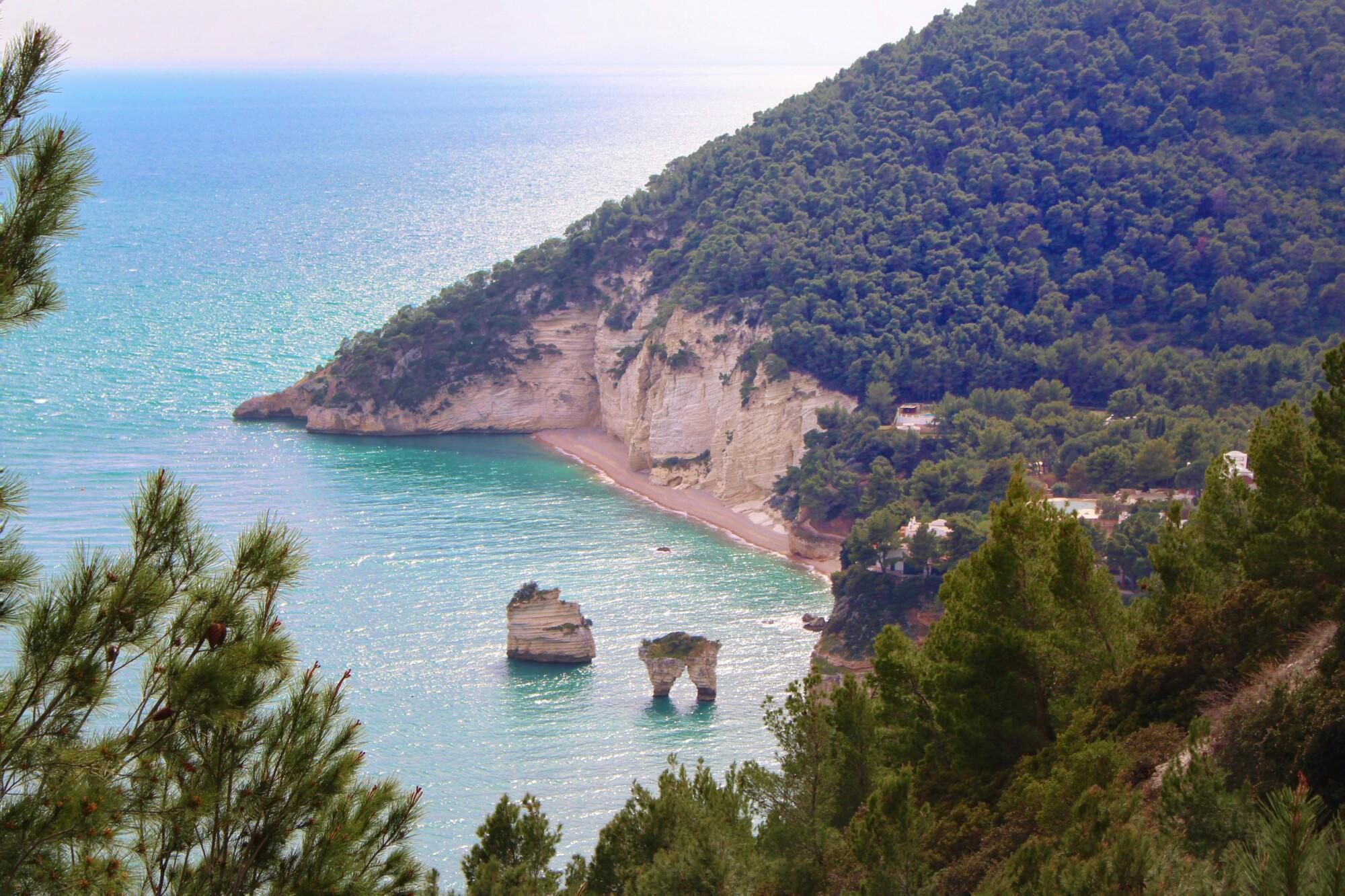 Panorama mare Gargano Puglia